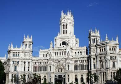 Madrid City Tour Palacio de Cibeles Plaza Mayor Puerta de Alcalá Enjoy a guided tour of Madrid for an overview of this wonderful city s most important sights.