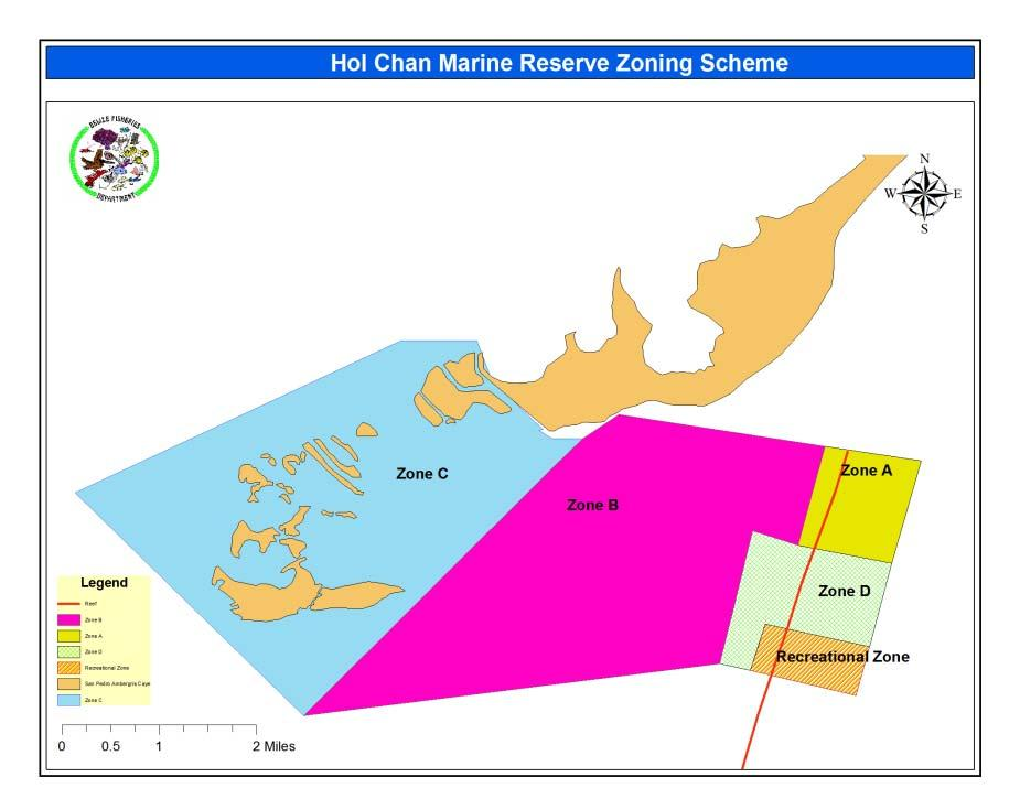 Hol Chan MR management scheme Small and in the border with Mexico: 18km 2 of coral reefs, seagrass beds and mangrove, swamps.