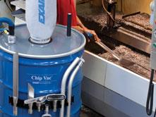 EXAIR s Mini Chip Vac System delivers the same cleaning power for small jobs. It comes complete with a 5 gallon drum and all the tools.