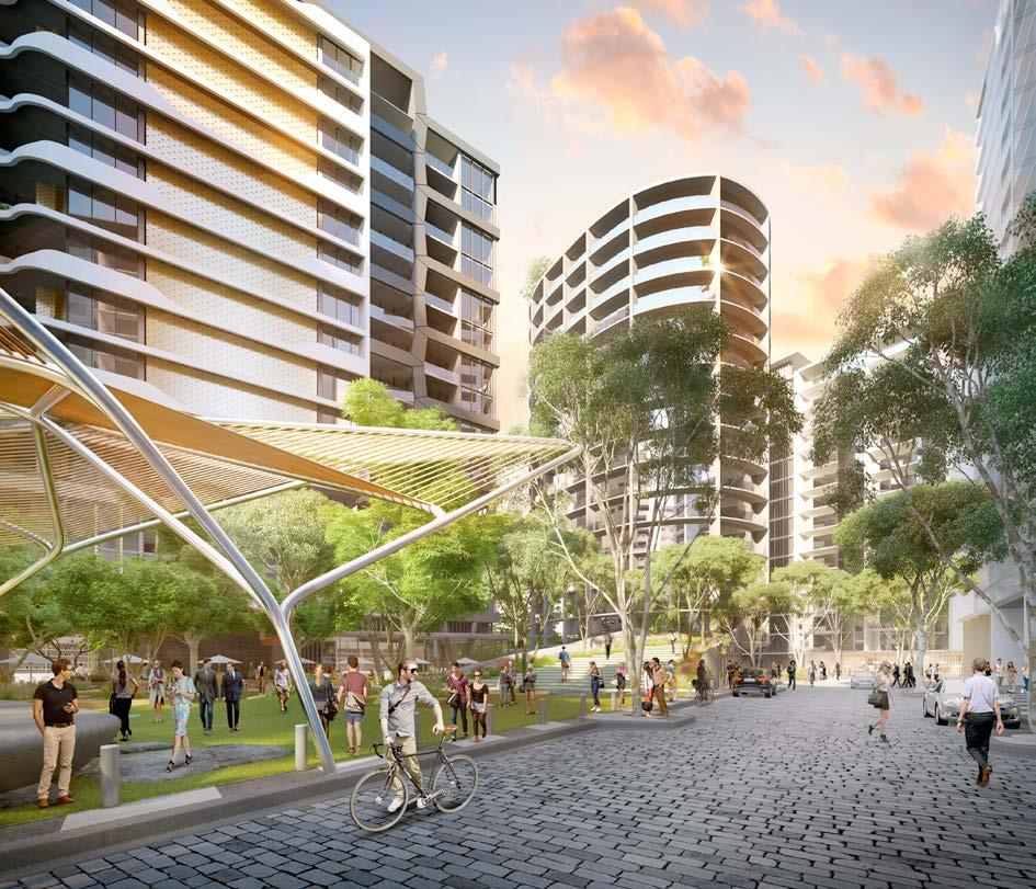 At South City Square, everything is connected, with the green central space at the heart of the precinct.
