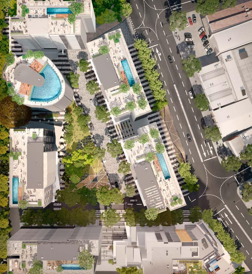 The award winning practices of Woods Bagot, DBI Design and Oculus have collaborated to create a masterplan for a visionary precinct at South City Square. 1 STAGE 3 1 STAGE 7 2 STAGE 6 1 STAGE 2 8 1.