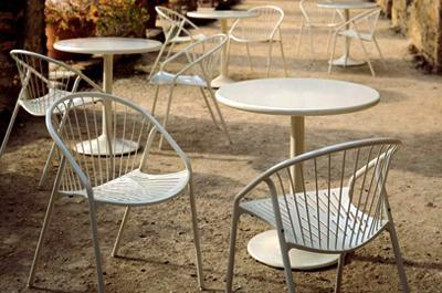 CH15 Quantity: 12 Location: Outdoor Court Manufacturer: Landscape Forms Product Description: Catena Outdoor Chair Model #: n/a Dimensions: 21 x 23 x 30