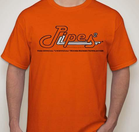 orange and printed with new dual pipe Pipes logo and the words The official