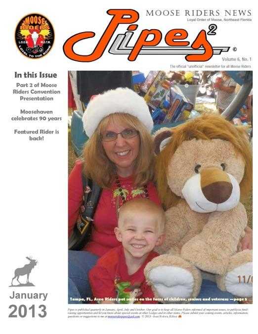 The wonderful photo of Kay Carlile and one of the toy recipients that appeared on the cover of the January issue made everyone smile when they saw it.