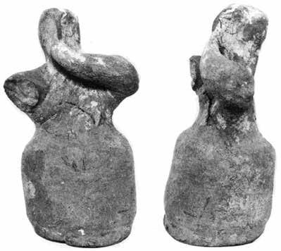 hypothesize that the objects found together with figurine HM 3035 (which included several jewels) represented the burial assemblage of the Tomba del sarcofago dipinto and were dumped inside the TDO