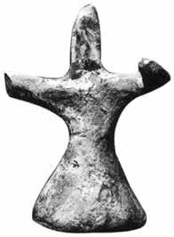 I) are not preserved but it can be assumed that they were indeed upraised; the head does not show any trace of ribs or cords interpretable as hair-locks (Fig. 32). Yet another figurine (HM 1815, 0.