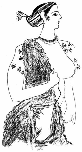 Nicola Cucuzza Fig. 39 - Akrotiri, Xeste 3: an adult woman (after Rehak 2004, p. 88, fig. 5.