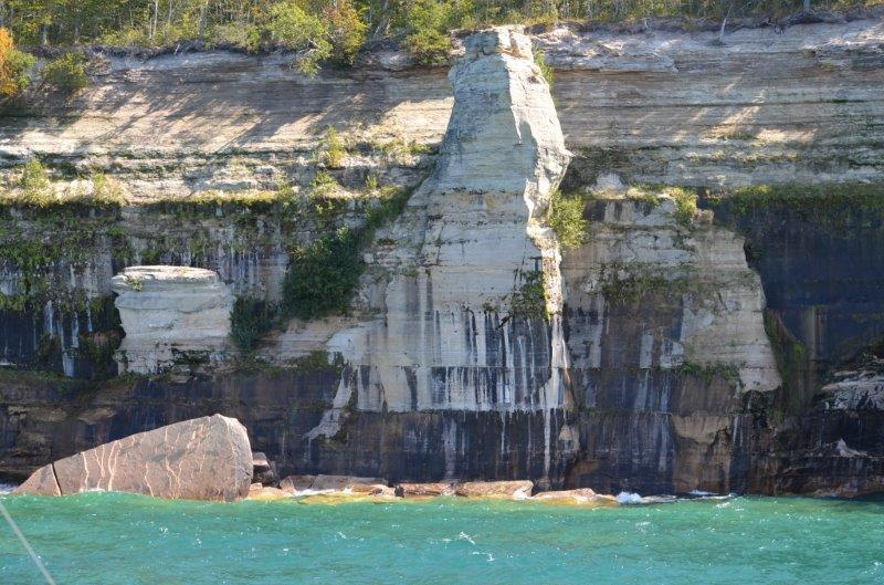 Pictured Rocks National Lakeshore at the south shore