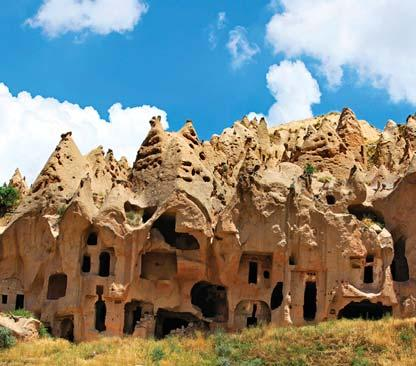 Walk through the surreal volcanic stone forests of otherworldly Cappadocia.