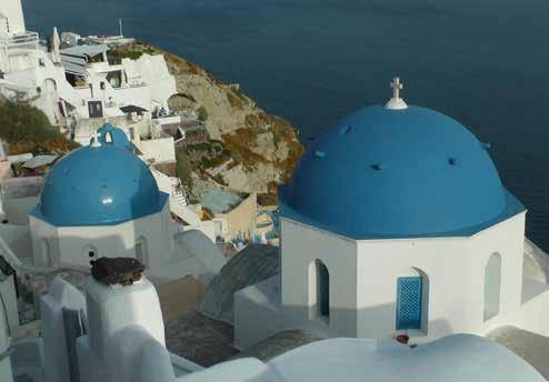 EXPLORE SANTORINI Santorini, A mythical island: essentially what remained after an enormous volcanic eruption that created a giant, central, rectangular lagoon with high, steep cliffs on three sides