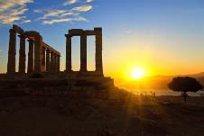 CAPE SOUNION HALF DAY AFTERNOON TOUR Tour time 15:00 Duration: 4 hours A half day afternoon trip along the picturesque coastal route.