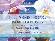Summer_ in Santorini 7-16 August LC Armstrong - Island Painting Vandiri Art in New York presents the painting exhibition LC Armstrong Island Painting.