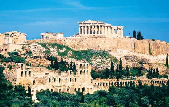SCHEDULE BY DAY (B=BREAKFAST, L=LUNCH, R=RECEPTION, D=DINNER) ACROPOLIS, ATHENS, GREECE MONDAY AND TUESDAY, SEPTEMBER 26 AND 27 U.S. / ATHENS, GREECE Depart the U.S. for an overnight flight to Athens, Greece, the birthplace of democracy.