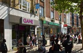 SITUATION The subject property is located on a 100% prime retail pitch on the eastern side of the pedestrianised North End.