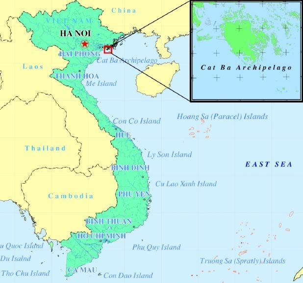 Viet Nam Cat Ba Archipelago Map 1: