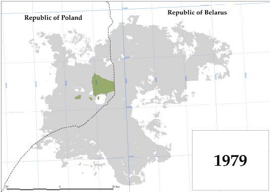 Poland / Belarus Bialowieza Forest Map