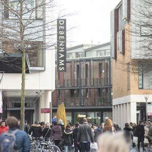 The prime retail pitches are located within the pedestrianised section of the High Street between the Guildhall Centre, the John Lewis department store and