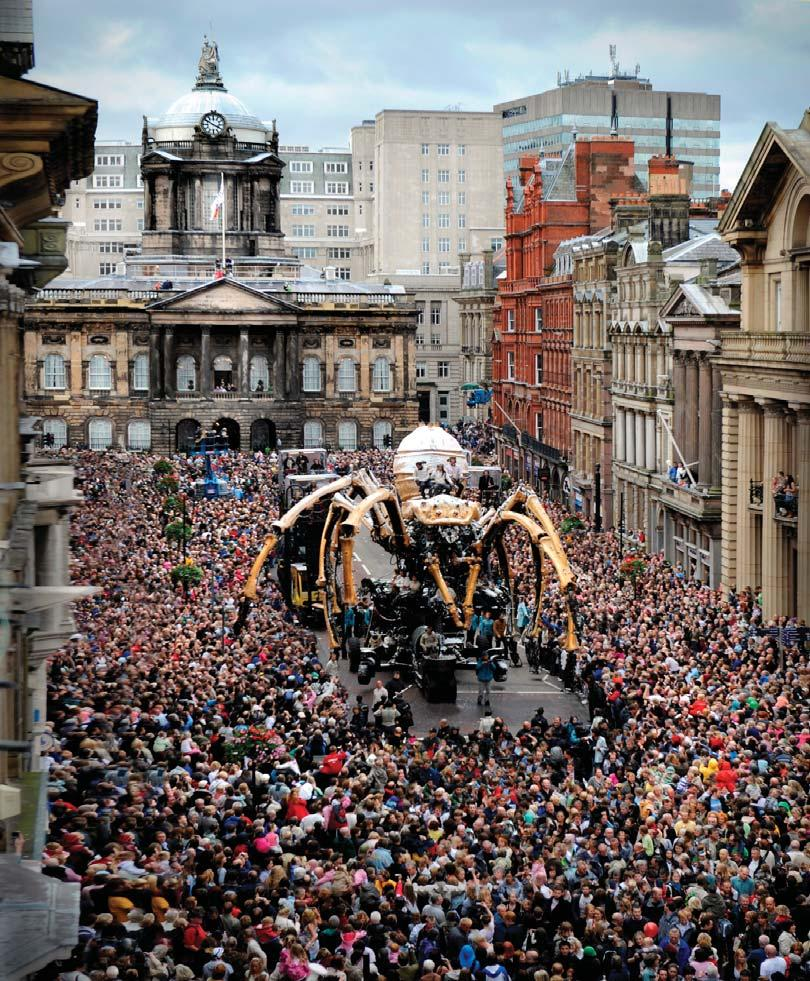 14 Government Tourism Policy La Machine wowing crowds as part of the 2008 Liverpool Capital of Culture. Picture: Courtesy of Liverpool City Council In 2008 there were an estimated 27.