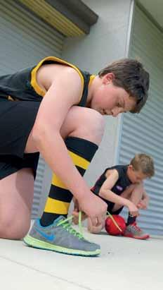 The Waites Park Auskick program is just one beneficiary of the South Albury Strategy, adopted in 2004, which has delivered new changerooms for the club.