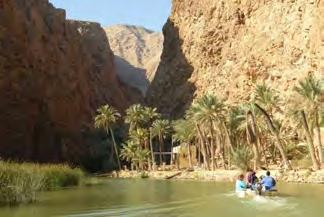 Possible activity along the transfer Wadi Shab 1h-3h The most famous wadi