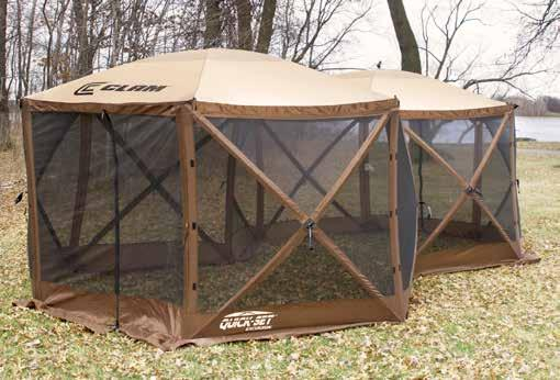 Quick-Set Screen Shelters are complete with no-see-um mesh and an extra wide skirt that will keep biting insects out!
