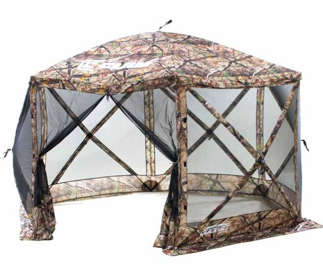 THE PERFECT BACKYARD GAZEBO! POLAR CUB CART The Quick-Set Escape is the original six-sided screen shelter and the one that started the Quick-Set series.