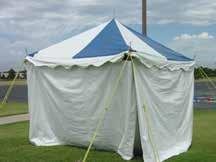 20 x 30 pole tents of various colors 20 x