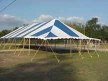 30 Wide Traditional Pole Tent