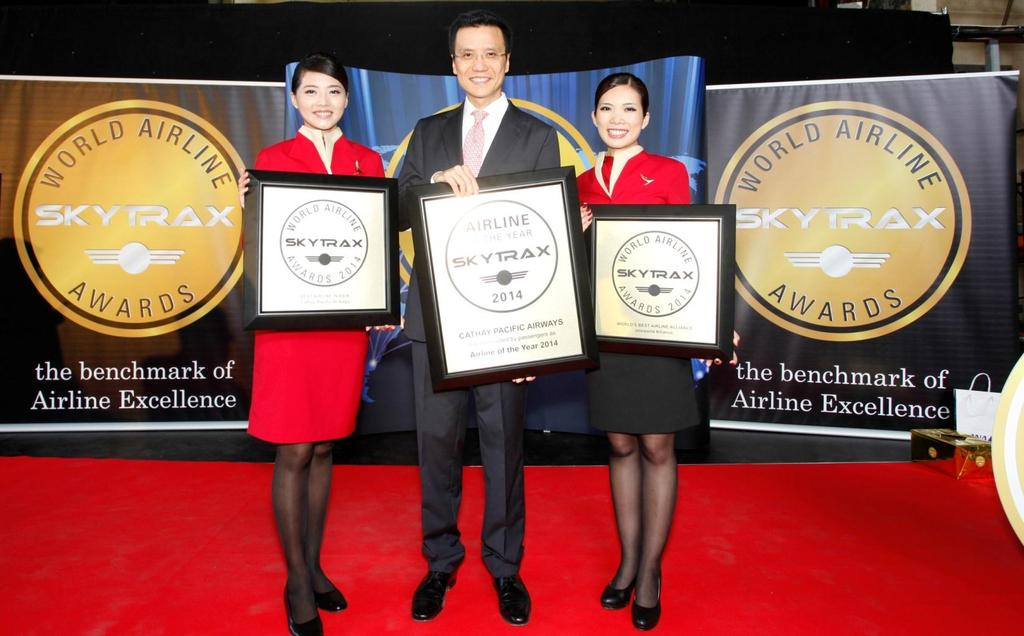 Awards Airline of the Year In July, Cathay Pacific was named the World s Best Airline in the annual World