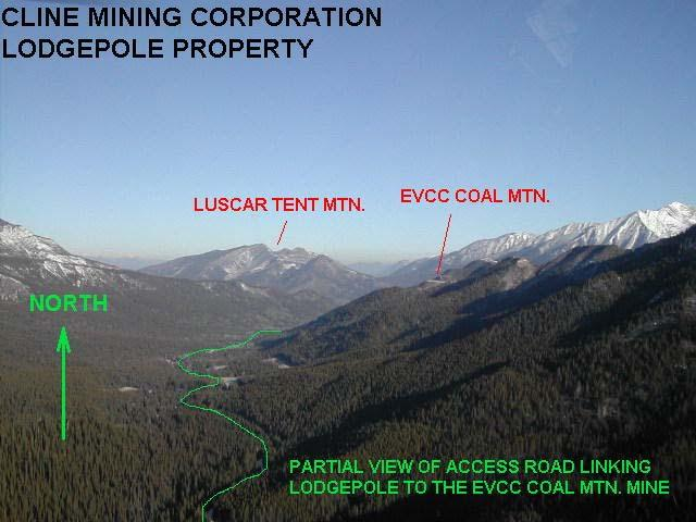 Figure 13. Landscape context of the proposed Lodgepole open-pit coal mine.