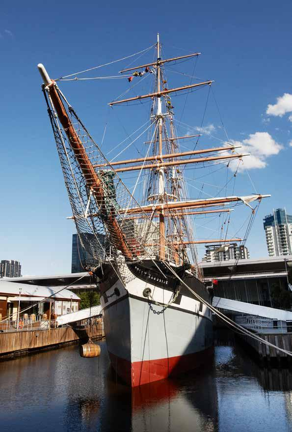 Polly Woodside Built in 1885 and having travelled the world as a cargo ship until 1968 the Polly Woodside is an iconic Melbourne landmark.