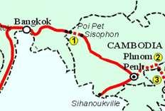Country Section Status Cambodia - Thailand Cambodia side Sisophon Poipet [48 km] Thailand