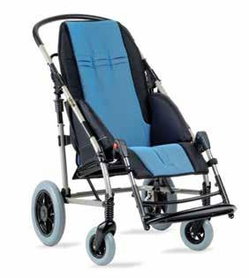 tilt in space and 40 backrest recline Benefits Crash tested for vehicle use Available in three sizes Blue upholstery Has rigid backrest with adjustable recline Grows with the child 20 recline