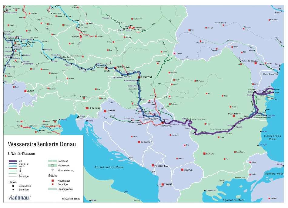 mid-term EU accession perspective European Commission via donau I 3 The Danube river an integrative element for the Danube region The Danube is the most international river of the world and connects