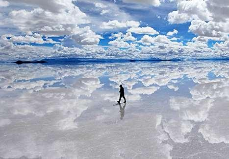 Physical Geography: Andes and Midlatitude Salar de Uyuni The altiplano region of Bolivia is home to one of the world's largest salt deposits, stretching for over 6,500 miles.