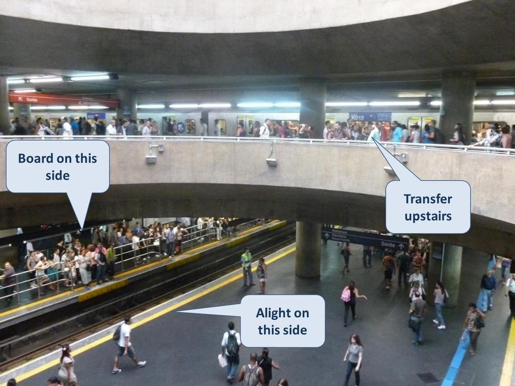 ITQ Good practice station and terminal design: Sao Paulo ITQ Incoming trains have multiple options for turnaround,