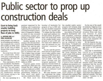 economy this year Rolling out of public sector projects of up to $50 million each, targeted at