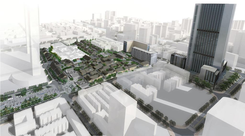 Daci Temple Project, Chengdu Artist s Impression Artist s Impression A large-scale urban development comprising a street style retail complex (2-3 storey blocks), a boutique hotel, serviced