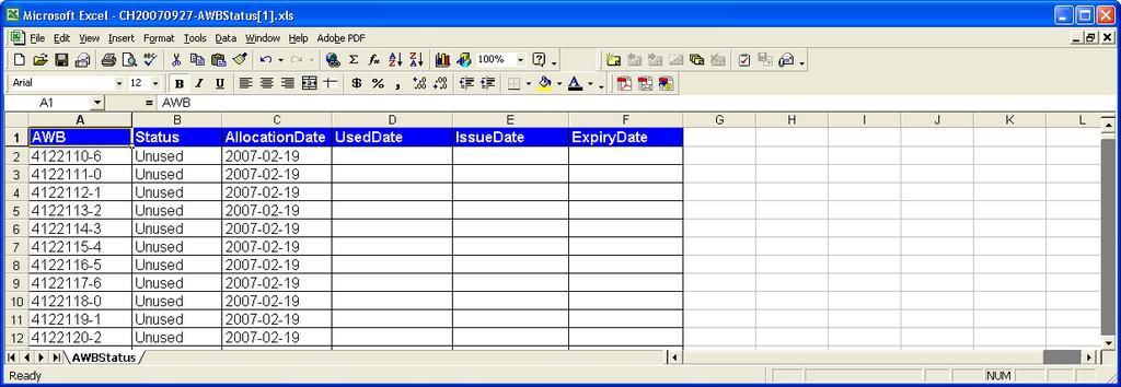 Define the search/data dates From/To Select the report type Excel or PDF.