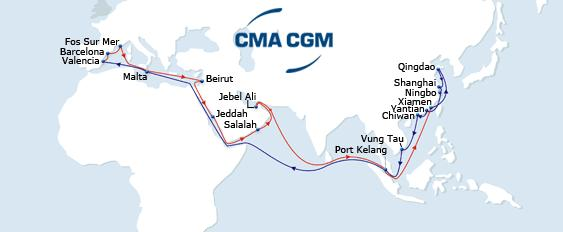 New 2015 ASIA - MEDITERRANEAN Services MEX 1 MEX 2 PHOEX BEX AEGEX MEX 1 Eastbound Dedicated feeder network to all South East Asian ports New gateway from all Med ports to Indian Ocean via Salalah
