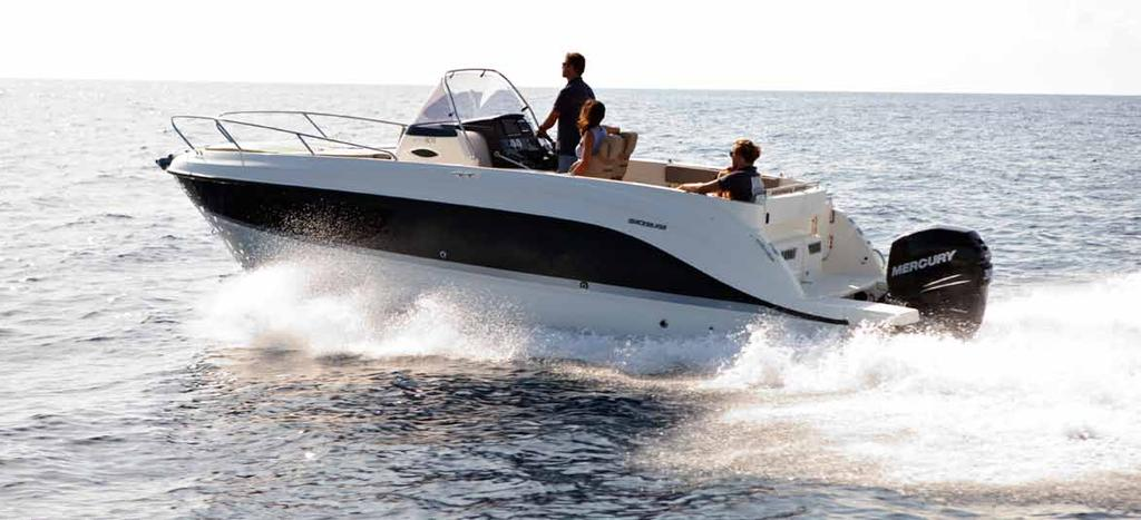ACTIV 805 Sundeck SUN, SEA AND UNMISTAKABLE STYLE If you re looking for the perfect combination of performance and comfort in the 7-8 meter range, then look no further than Quicksilver s Activ 805