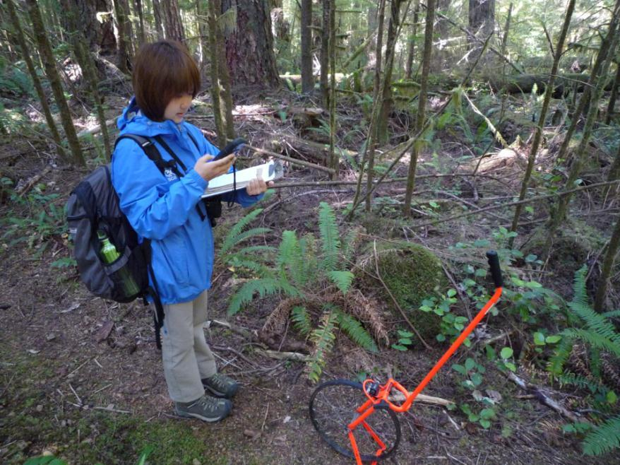 Mapping trail locations with a GPS unit and