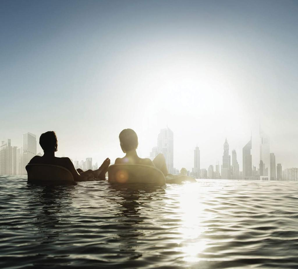 RELAXATION AS A PRIORITY Downtown Dubai serves as the