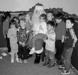 Then the children loaded the buses and went to the District Court where they had a short tour to view their decorations on the Christmas tree there.