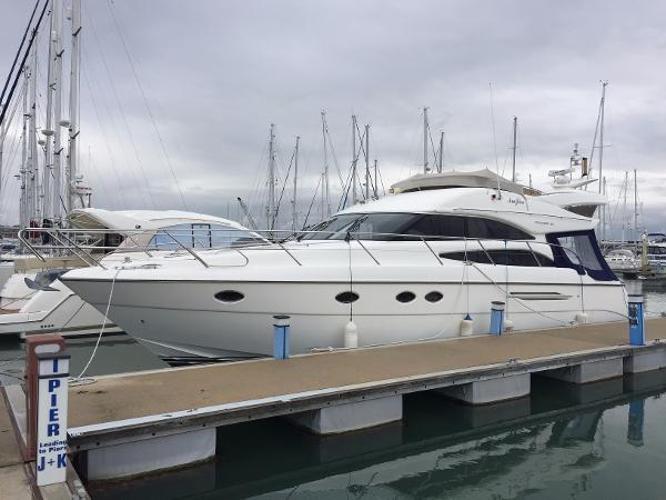 PRINCESS 50 2005 PRICE: 279,000 INC VAT Ref:PB1333 2006 MODEL PRINCESS 50 MKII FLYBRDGE MOTOR YACHT FOR SALE, FITTED WITH: Built 2005 Twin Volvo D12-675hp diesel engines Natural cherry interior