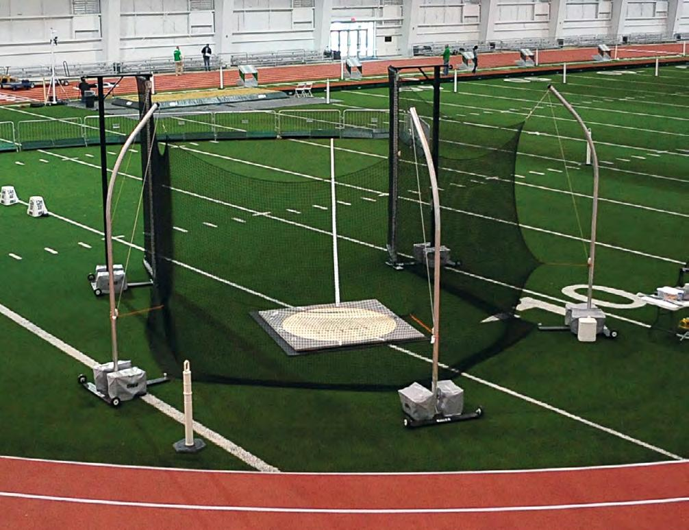 732250 13 2 NCAA Portable Indoor Cage The NCAA Portable Indoor Weight Cage was designed to be set up and removed as needed.