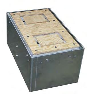 Box - Synthetic Version allows material to be bonded or poured onto the top of the lid to match the surrounding surface.