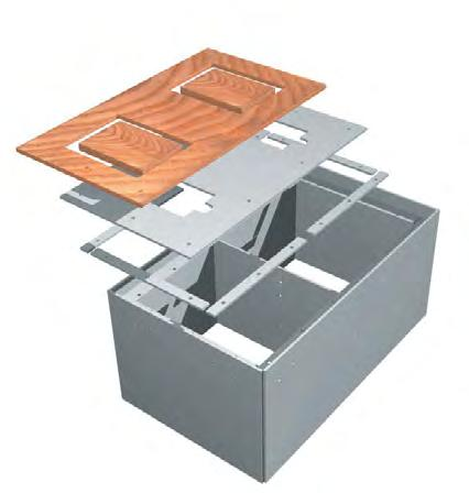 F91033 Half Size (15 L x 18 W x 14 D) F930 F93033 The VersaCom Box - Turf Version has a marine plywood top to allow artificial