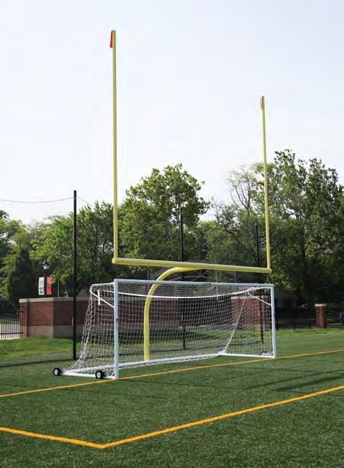 are sold separately Adjustable Aluminum Football Goal Posts The ultimate choice for a multi-use facility.