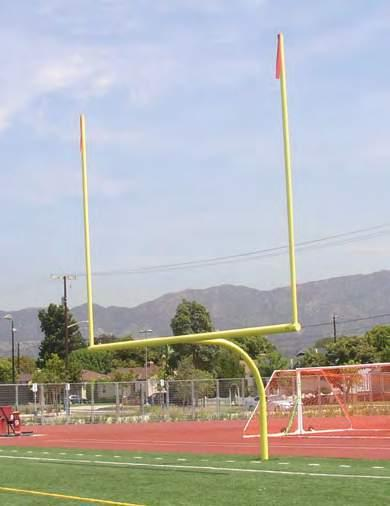 The access frame creates a uniform, seamless surface around the goal post for improved safety.